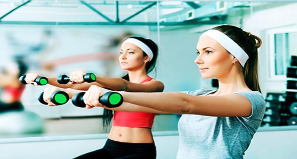 Chicas haciendo ejercicio