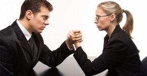 Pelea entre mujeres y hombres