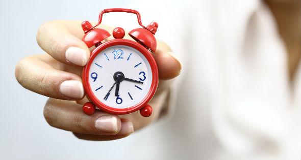 Tiempo en reloj