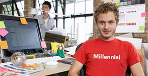 Millennial en oficina