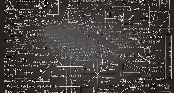 Pizarrón con ecuaciones