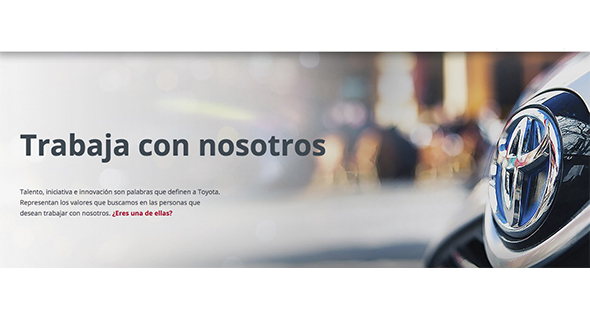 Screen Shot Página oficial Toyota