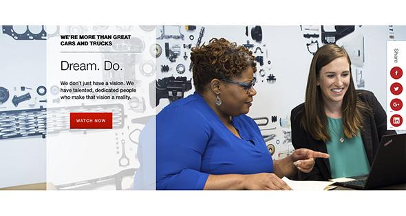 Screen Shot de página Toyota EUA