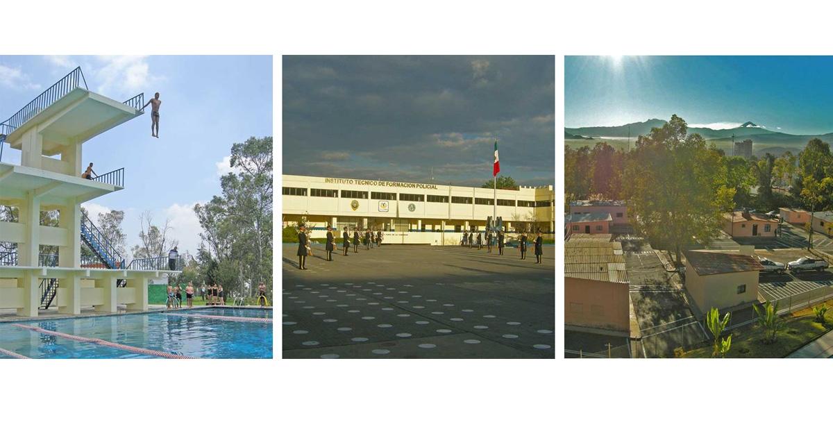 instalaciones de la universidad de la policía cdmx